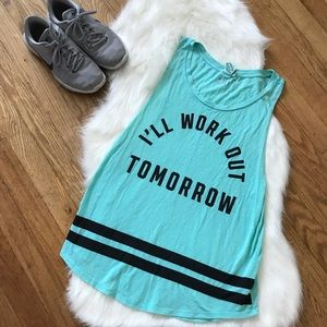 PINK Exercise Muscle Tank Top